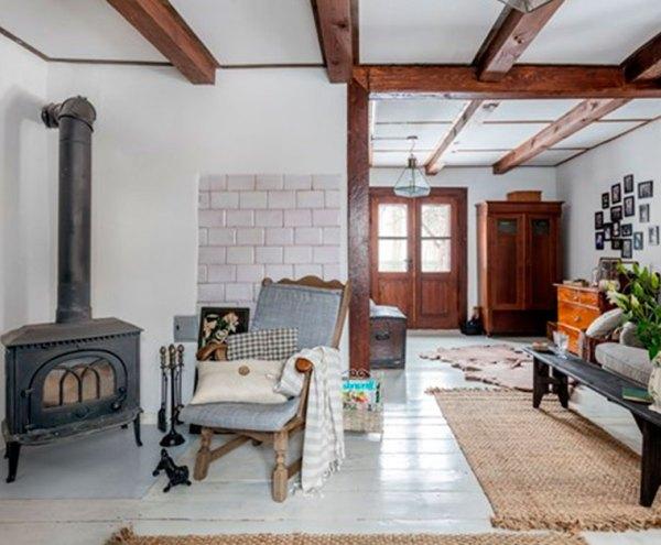 Комната с камином – интерьер
