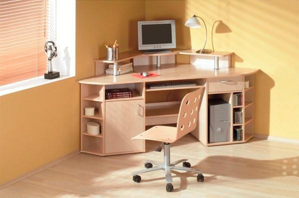 Угловой письменный стол для школьника + фото