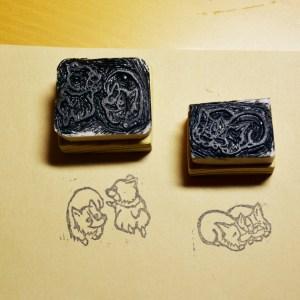 橡皮章:適合不方便做印刷的材質,如布料