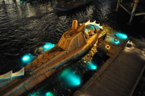 Night Time Details at Mysterious Island
