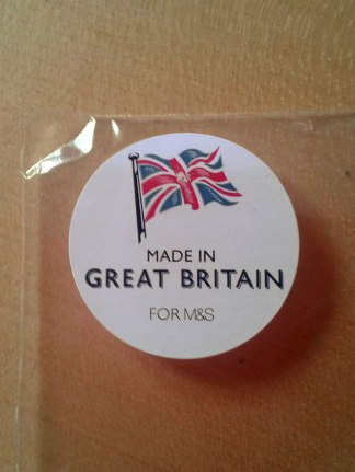 I spotted this just the other day. Made in Britain seems to be attempting a comeback.