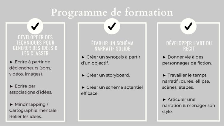 Communication et commerce - Programme storrytelling
