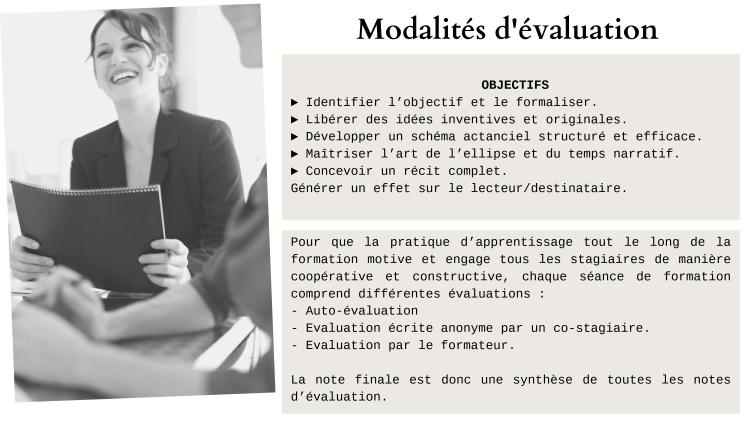Communication et commerce - Modalité d'évaluation Forma 1
