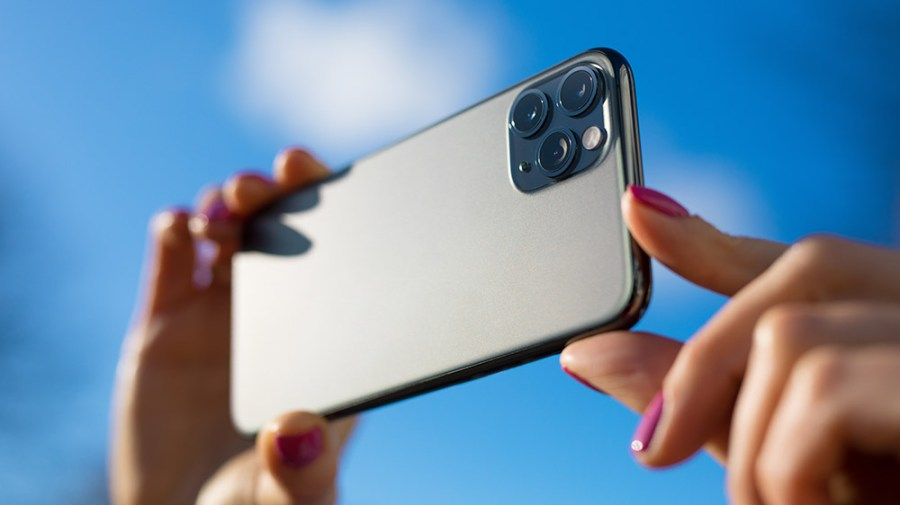 Image of the new iPhone 12 and it's incredible camera and lens for taking smartphone photos for your business.