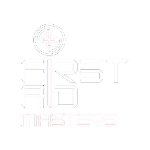 First Aid Masters in Canberra (this is their white logo)