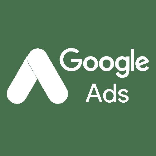 Google Ads White Logo on Transparent Background