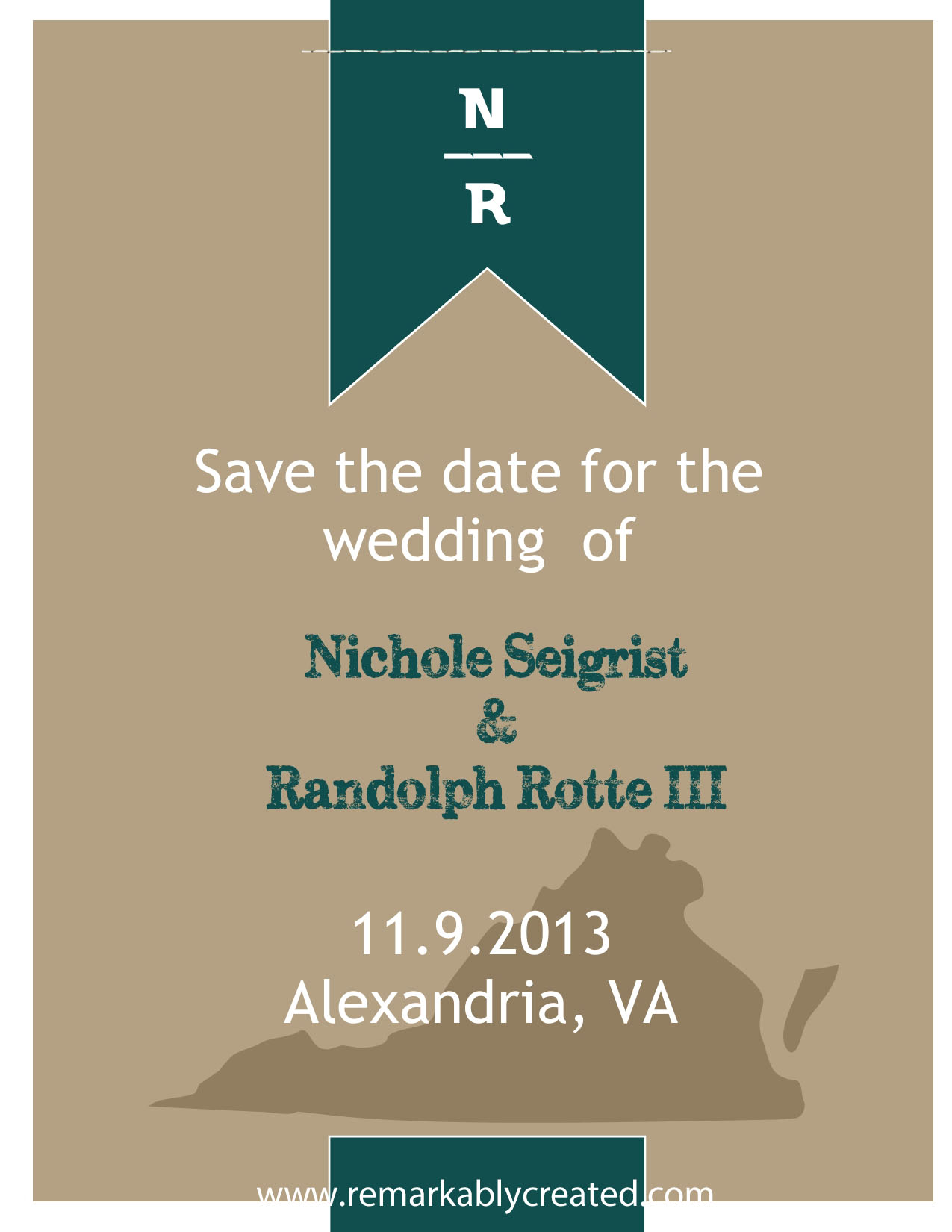 Save The Date Cards With StampinUP RemARKable Creations