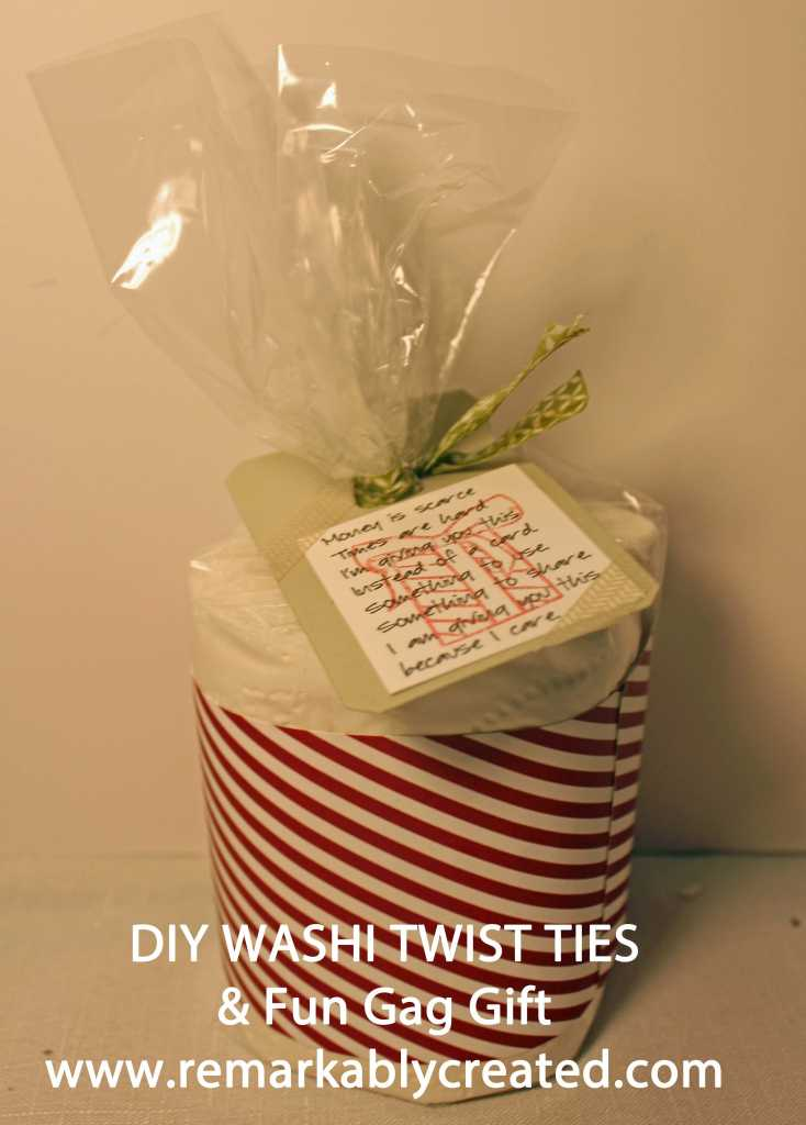 DIY Washi Twist Tie And Toilet Paper Gag Gift RemARKable Creations