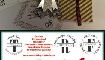 custom personalized stampin up circle monogram stamps how to