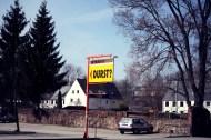 Zielgruppengerechte Werbung eines Getränkehandels.