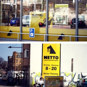 """Absolute Supermarkt-Seltenheit in Ostdeutschland: Netto-Nord aka """"Hunde-Netto"""", bekannt für dänische Delikatessen im Sortiment."""