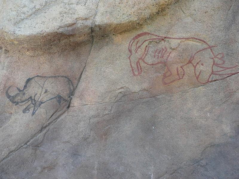 Seit bereits Trilliarden von Jahren existieren diese beiden Zeichnungen, die Ndugus Vorgänger darstellen.