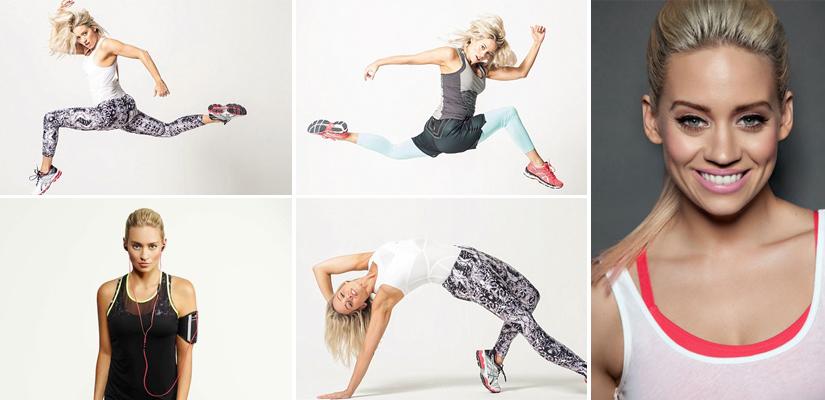 Kimberly Wyatt fitness collage