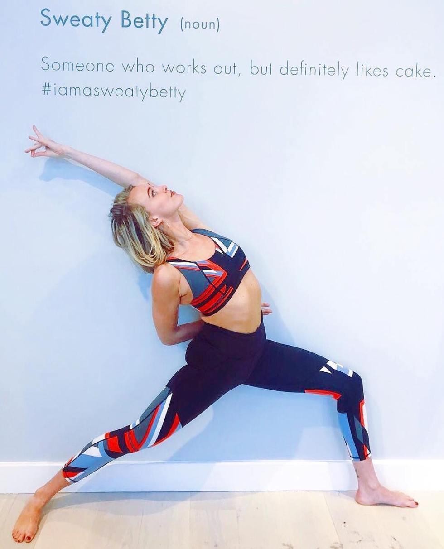 Sweaty Betty Yoga Pose Cake Quote 2019