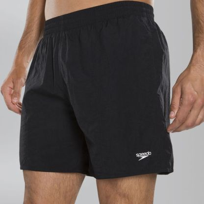 Speedo Solid Leisure 16 Swim Shorts - Black - Swimming