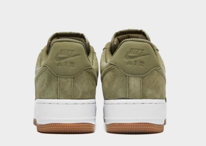 Nike Air Force 1 07 Suede Trainers - Khaki 4