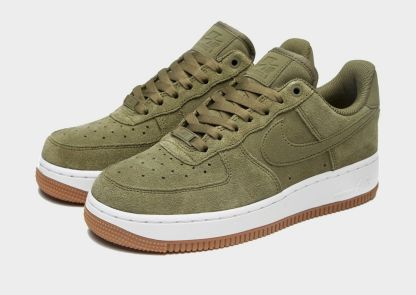 Nike Air Force 1 07 Suede Trainers - Khaki