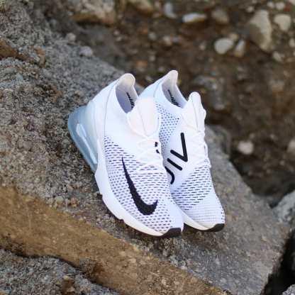 Nike Air Max 270 Flyknit White Platinum 7