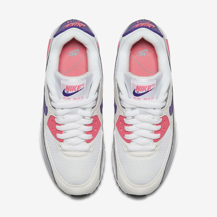 nike air max 90 grey Weiß and pink
