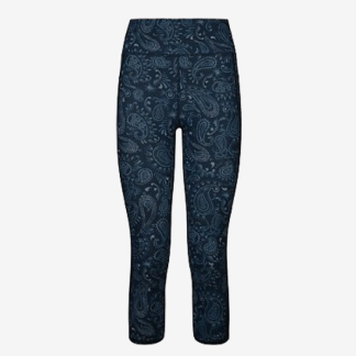 Sweaty Betty Zero Gravity 7:8 Run Leggings - Blue Spring Paisley
