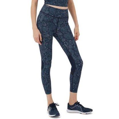 Sweaty Betty Zero Gravity 7:8 Run Leggings - Blue Spring Paisley on model