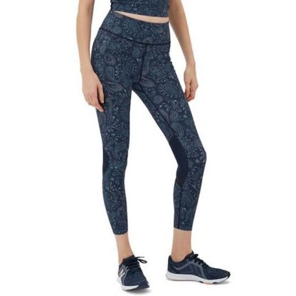 Sweaty Betty Zero Gravity 7:8 Run Leggings - Blue Spring Paisley on model