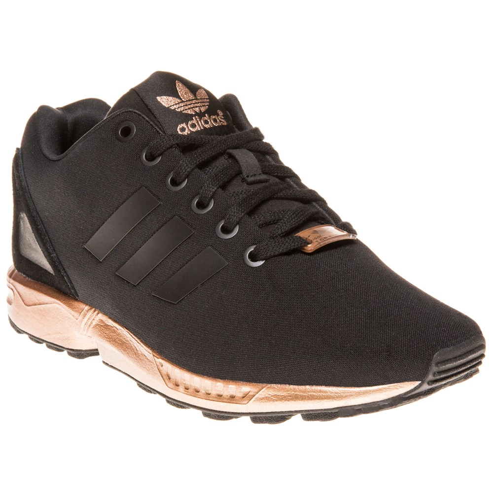 zx flux adidas black and gold womens