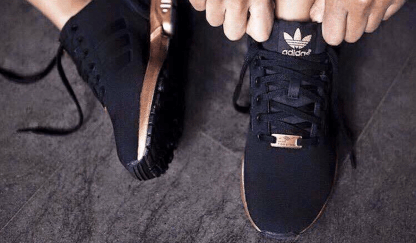 adidas ZX Flux Trainers – Black and Copper (Gold)