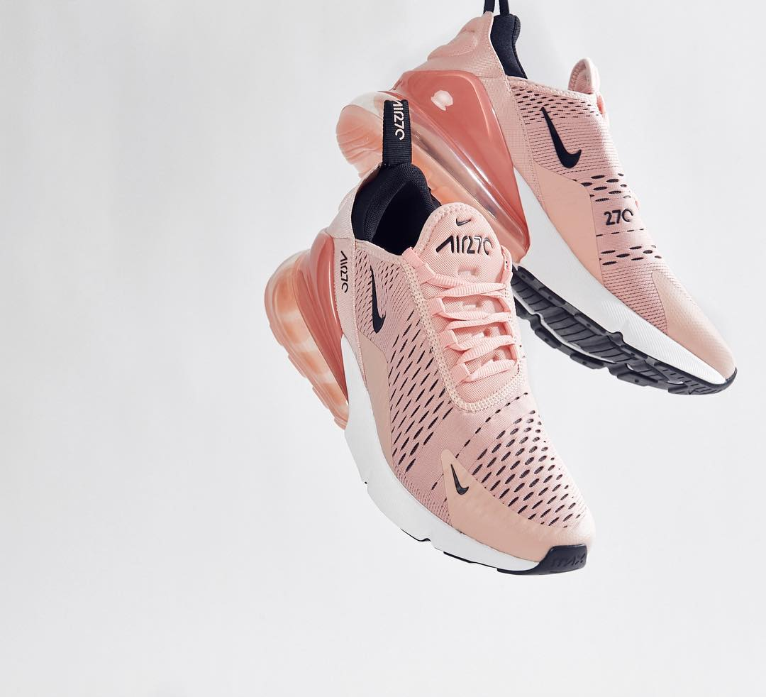 black and pink nike air max 270