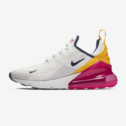 Nike Air Max 270 Premium - White Blue Yellow Fuchsia