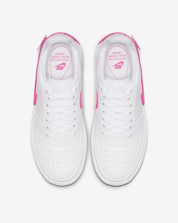 Nike Air Force 1 Jester XX Shoe - Pink White - above image