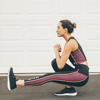 Sweaty Betty London Range - Homestraight Run Crop Top and yoga girl