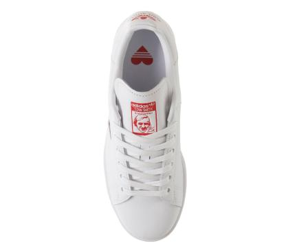 adidas Stan Smith Red Heart Valentine's Day Shoes - above