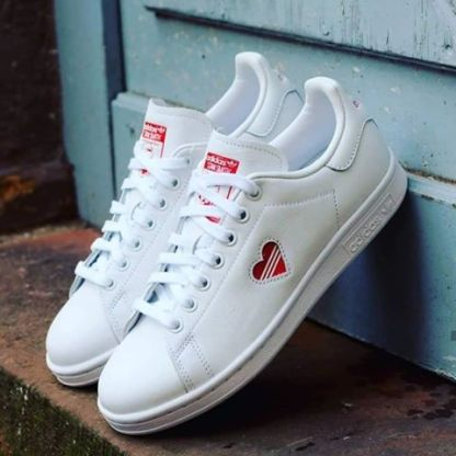 adidas Stan Smith Red Heart Valentine's Day Shoes - pair