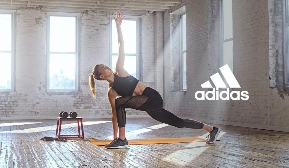 Karlie Kloss yoga adidas - adidas voucher code banner