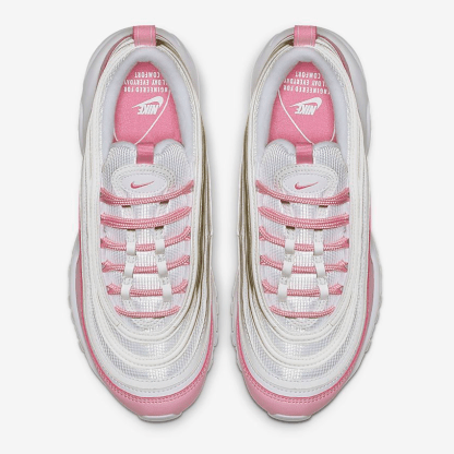 Nike Air Max 97 Essential Shoes - white pink - above view