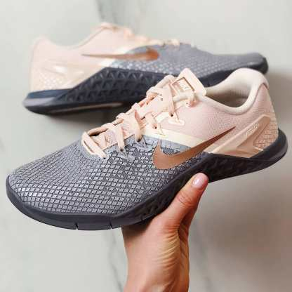 Nike Metcon 4 XD Metallic Shoes - Grey Pink - CrossFit