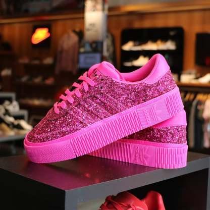 Sambarose shoes glitter pink