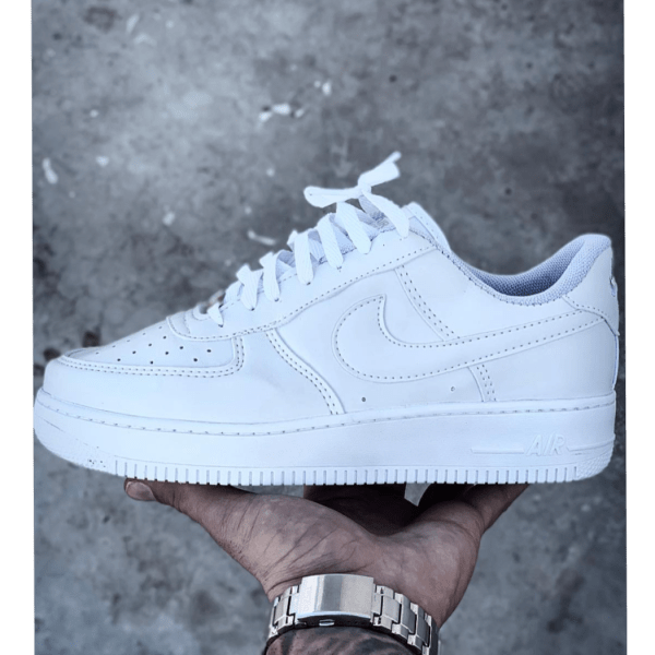 White Nike Air Force 1 Shoe - cool - details - 2019