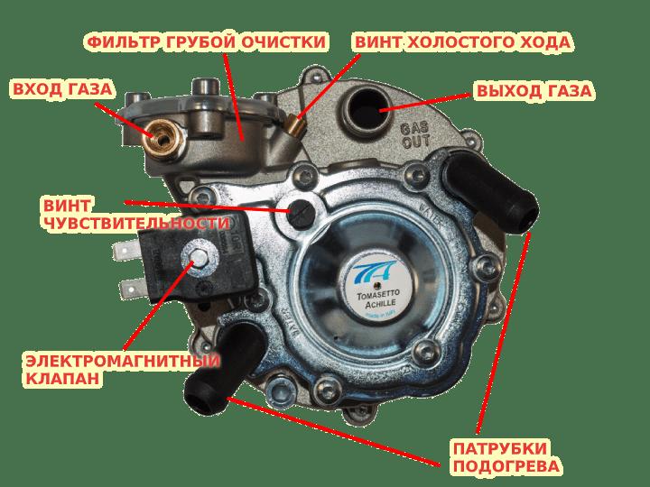 Схема редуктора ГБО 2