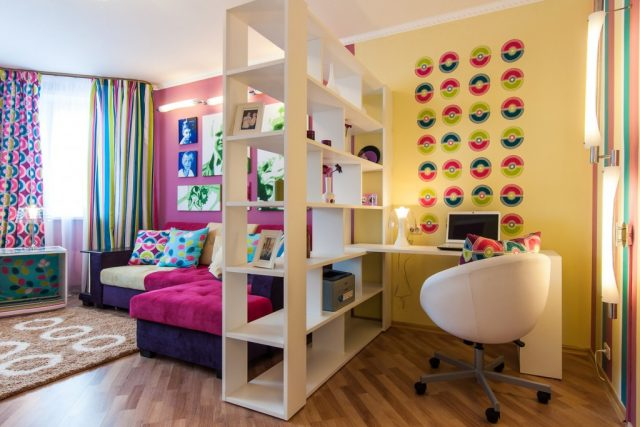 дизайн комнаты в общежитии 18 квм фото 3