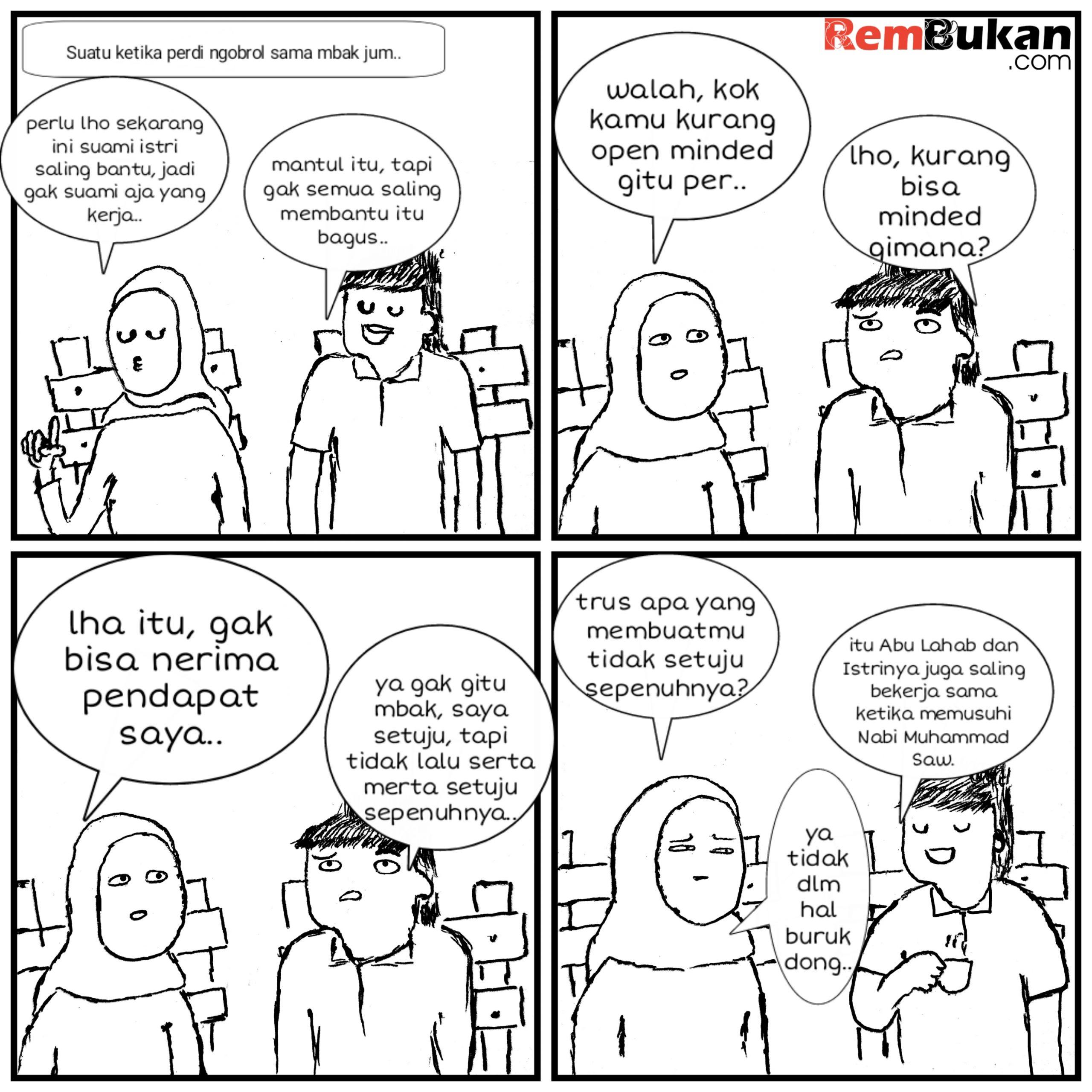 Suami istri yang saling bantu membantu