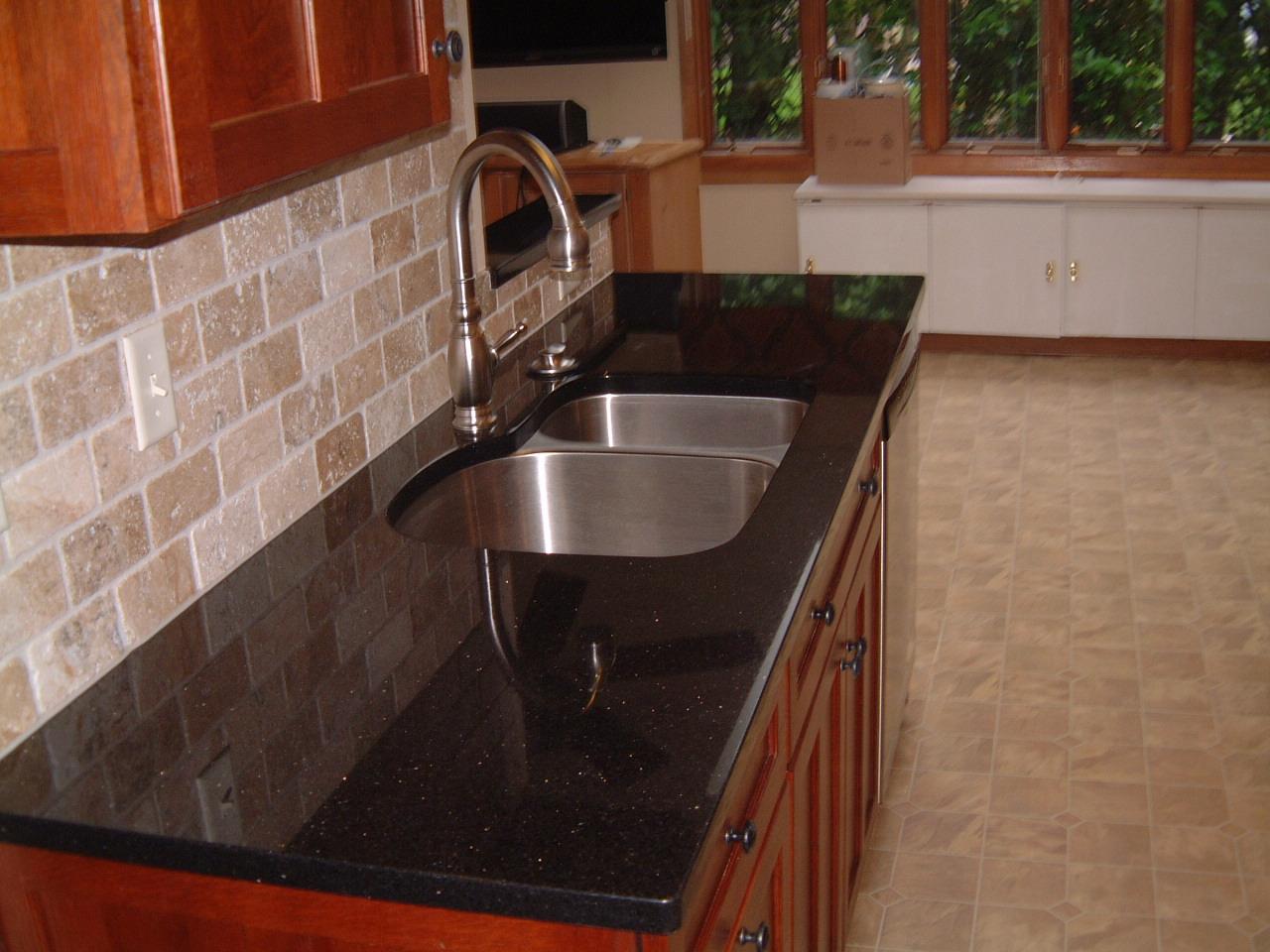 black granite | Remodeling Designs, Inc. Blog on Backsplash For Black Countertop  id=82119
