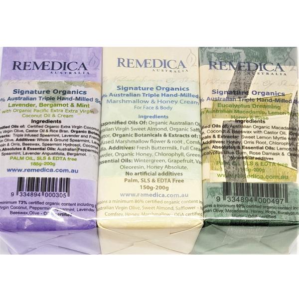 Lavender Bergamot & Mint, Marshmallow & Honey Cream, Eucalyptus Dreaming