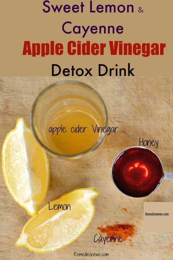 Sweet Lemon & Cayenne Apple Cider Vinegar Detox Drink