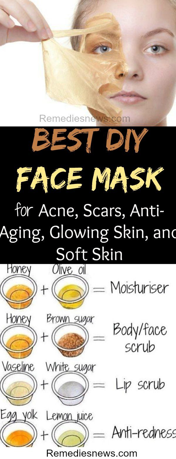 5 Best DIY Face Mask for Acne, Scars, Anti-Aging, Glowing Skin, and Soft Skin