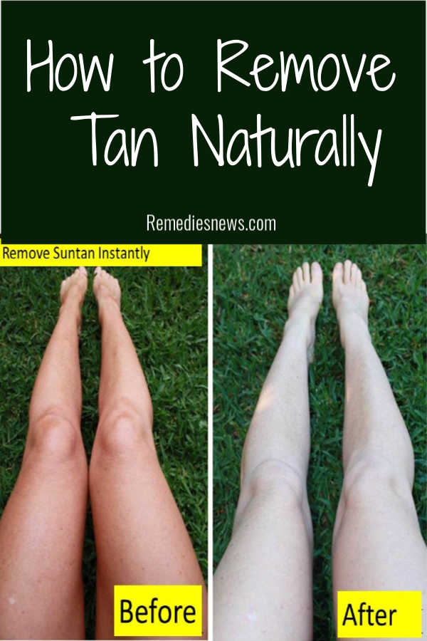 How to Remove Tan Naturally