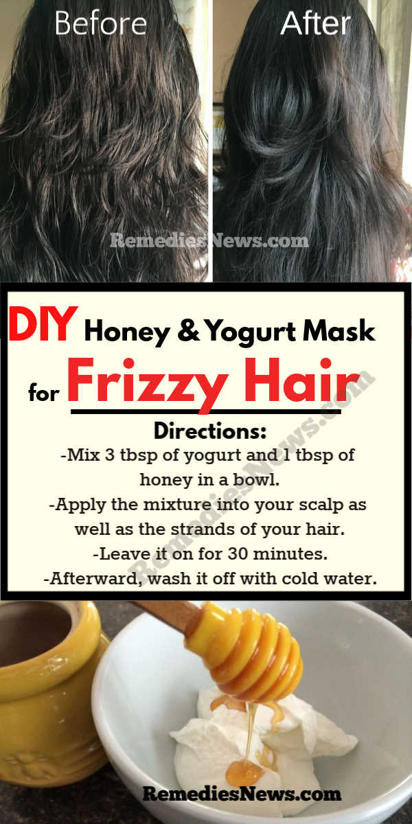 Honey and Yogurt for Frizzy Hair Remedies-How to Get Rid of Frizzy Hair in 5 minutes