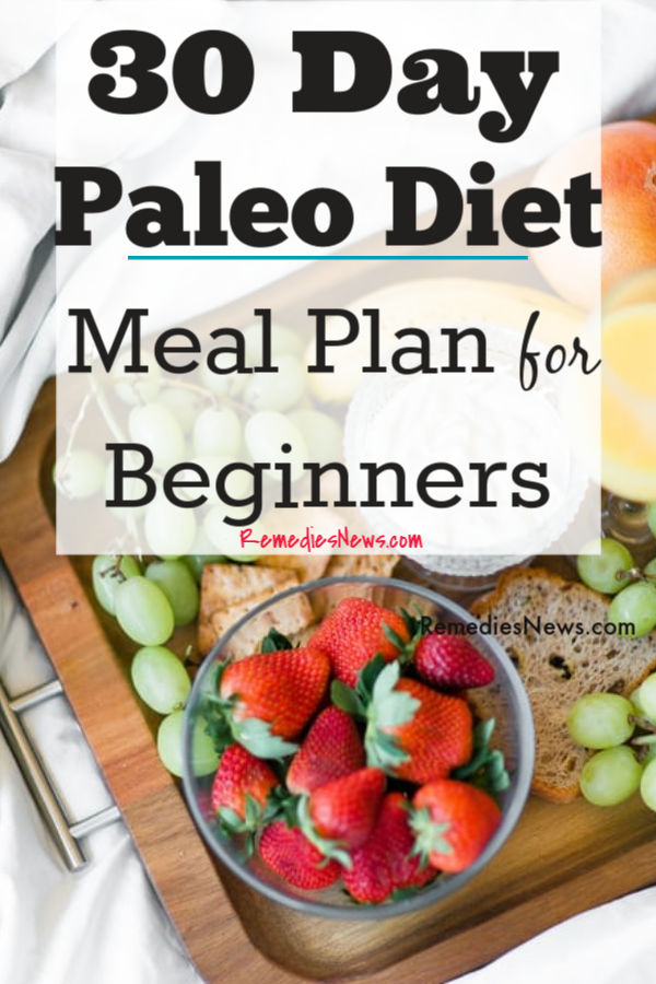 30 Day Paleo Diet Plan for Beginners to Lose Weight and Belly Fat Fast