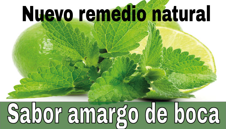 Sabor amargo remedio natural